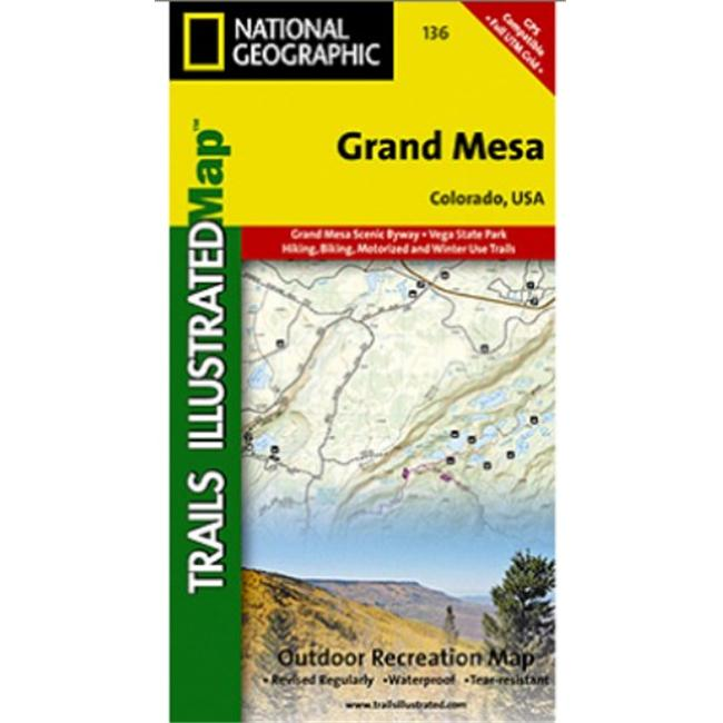 National Geographic Ti00000136 Map Of Grand Mesa Colorado