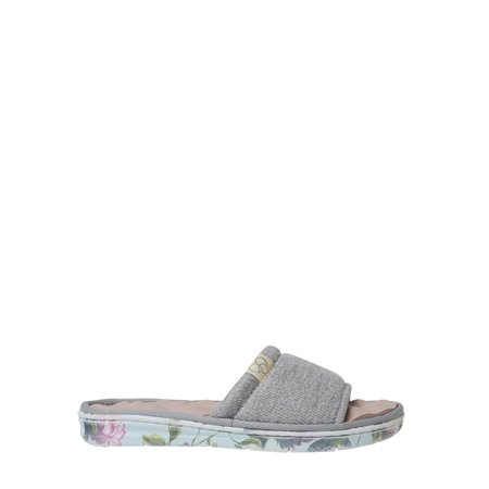 DF by Dearfoams Womens Knit Slide Slipper