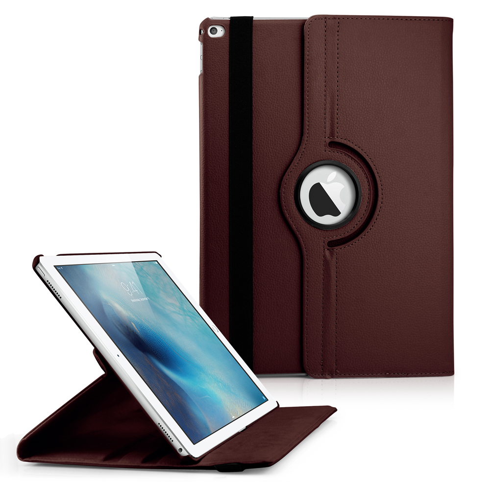 360 Degree Rotating PU Leather Case with Sleeping Function Smart Stand Swivel Cover for iPad Pro