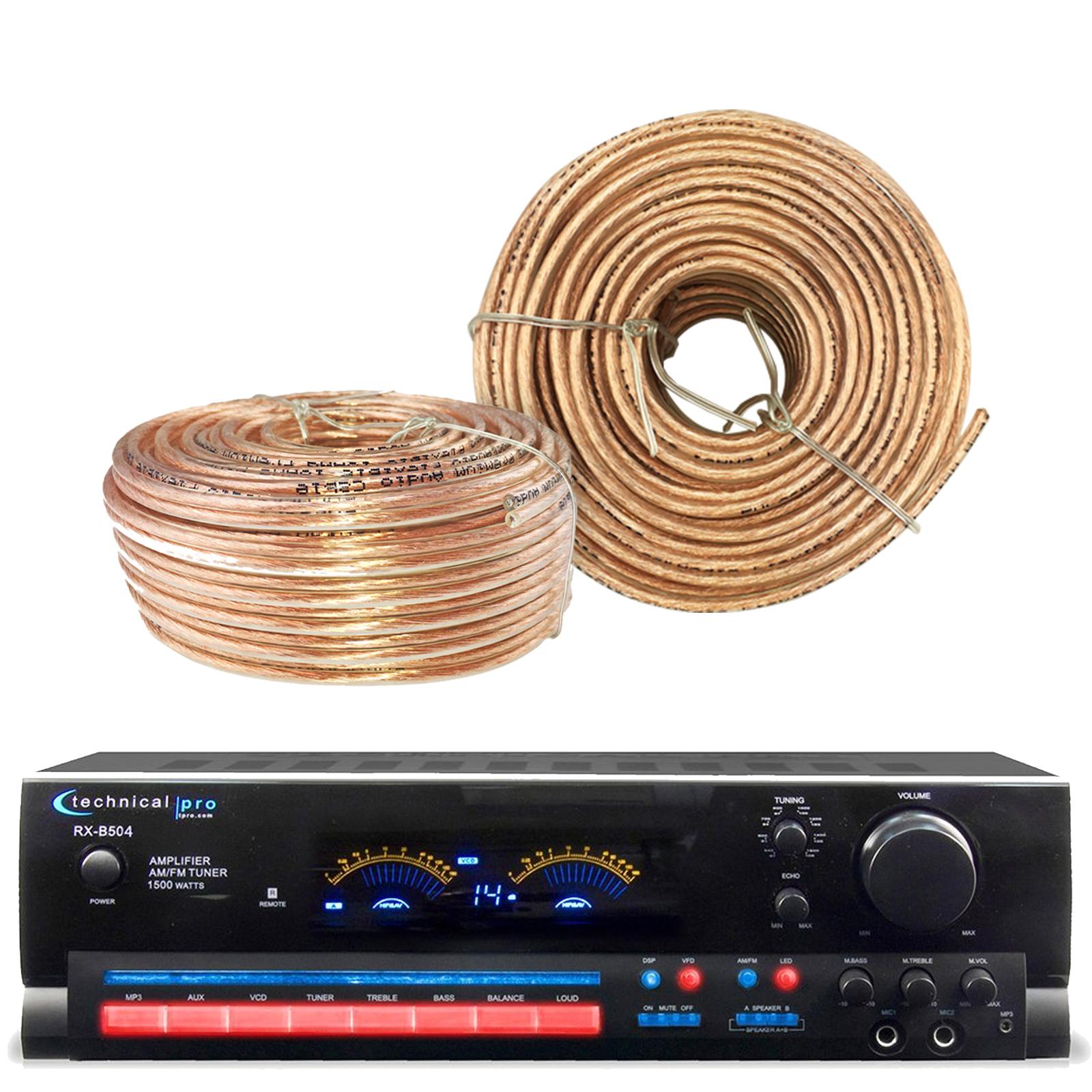 Technical Pro RX504 1500-Watt - 2-Channel - Integrated Am...