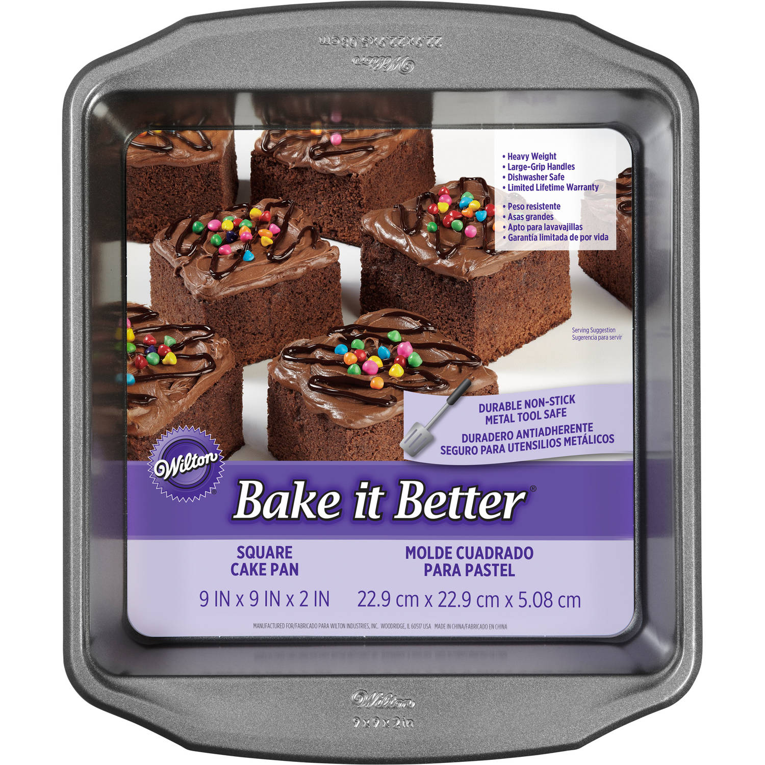 "Wilton Bake It Better 9"" Square Cake Pan"