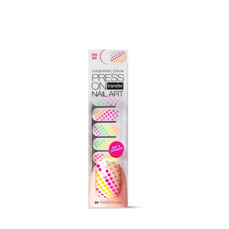 Dashing Diva Press On Transfer Nail Art -