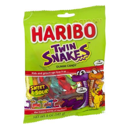 Haribo Twin Snakes Sweet & Sour Gummi Candies, 5 Oz.