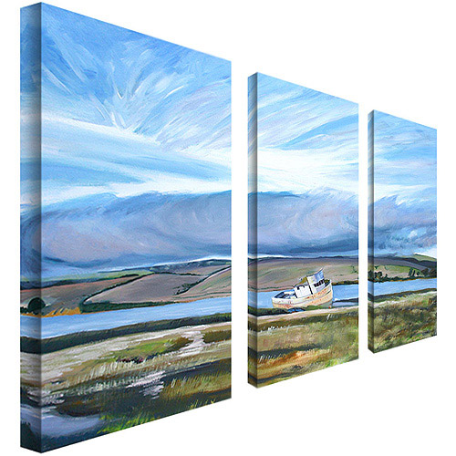 "Trademark Art ""Inverness Sky"" Canvas Art by Colleen Proppe 3-Panel Set"