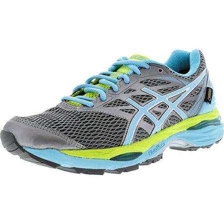 - Asics Women's Gel-Cumulus 18 G-Tx Aluminum / Aquarium Neon Lime Ankle-High Running Shoe - 9M