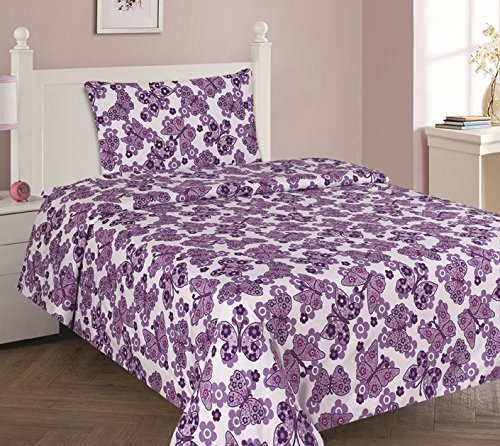 WPM Butterfly Purple Bedding Set Choose From Full/Twin Comforter Or Bed  Sheets Or Window