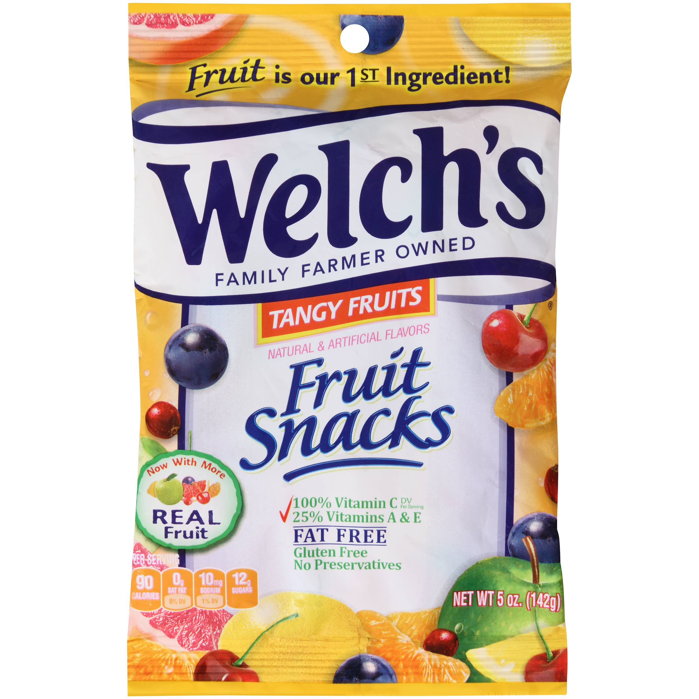 Welch's Promotion In Motion Tangy Fruit Snacks 5oz (PACK Of 12)