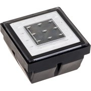 NEW Square Recessed Solar Powered Outdoor Pathway Brick Stair Light w/ White LED