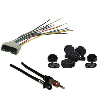 radio wiring harness for 2007-up select chrysler/jeep vehicles speaker  connector and antenna adapter - walmart com