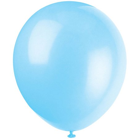 Latex Balloons, 5 in, Baby Blue, 72ct - White Balloons With Glow Sticks