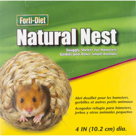 Forti-Diet Natural Nest for Small Animals, 4 0 IN (2 Pack)