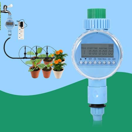 Yosoo AC Garden Auto Water Saving Irrigation Controller LCD Digital Watering Timer US Plug, Electronic Water Timer Auto Water Timer