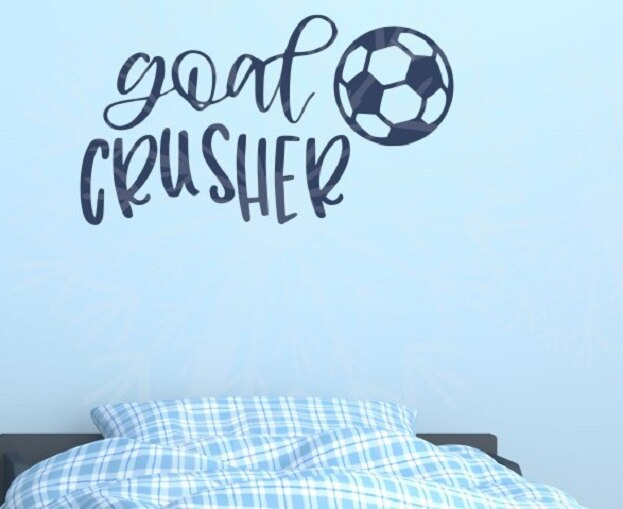 Soccer Quotes Wall Decor Decal Goal Crusher Vinyl Stickers Bedroom Art  36x20-Inch Deep Blue - Walmart.com