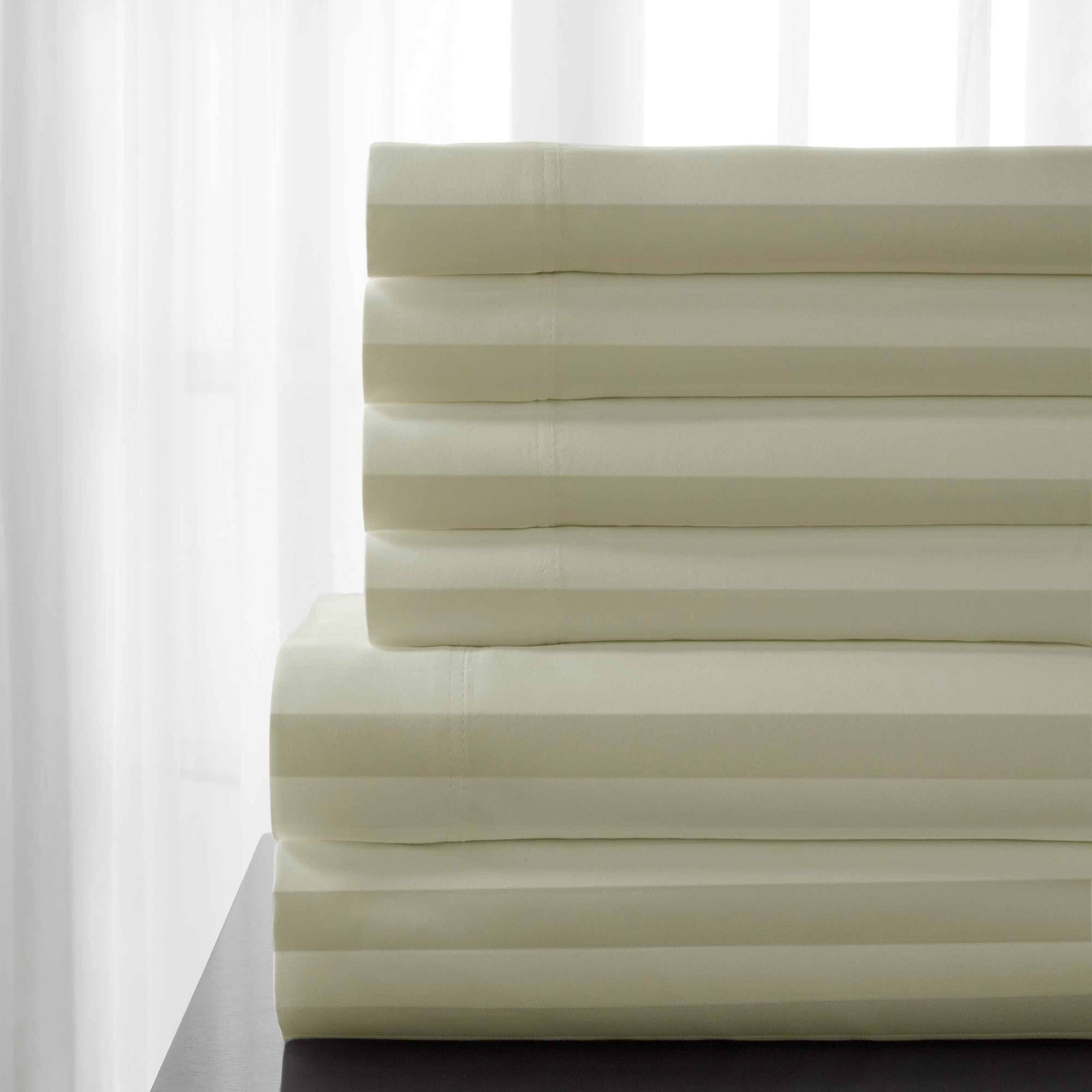 T600 Delray Cotton Rich Stripe Bonus Sheet Set