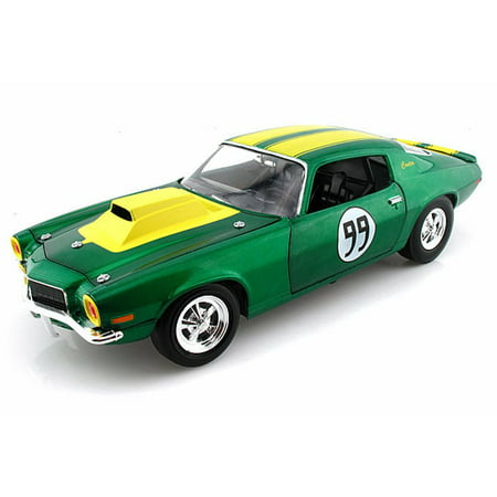1970 The Dukes of Hazzard Cooter's 1970 Chevy Camaro Hard Top #99, Green w/ Stripes - Tomy Johnny Lightning 21958 - 1/18 scale Diecast Model Toy