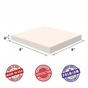 """Upholstery Visco Memory Foam Square Sheet- 3.5 lb High Density 6""""Hx6""""x6""""- Luxury Quality For Squishy Toy, Sofa, Chair Cushion, Pillow, Doctor Recommended for Backache, Bed Sores by Dream Solutions USA"""
