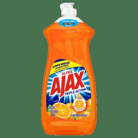 (5 Pack) Ajax Ultra Triple Action Dish Soap, Orange, 28 Fl Oz