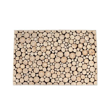Design Ideas Branch Teak Wood Doormat - Door Decorating Ideas