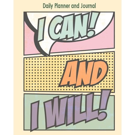 Daily Planner and Journal: Inspirational Personal Organizer for Daily Time Management and Appointments (Paperback)