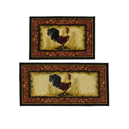 Madison Industries Inc. Rooster 2-piece Rug Set