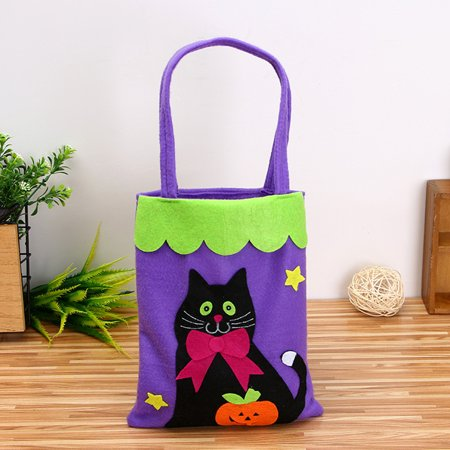 Cute Halloween Bags Trick or Treat Candy Bags Witches Pumpkin Bags for Kids Presents Decorative Props - Rice Krispie Halloween Treats Pumpkin