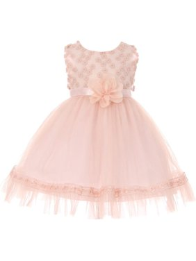75f0578e19a6 Product Image Baby Girls Pink Lace Tulle Floral Adorned Easter Flower Girl  Dress