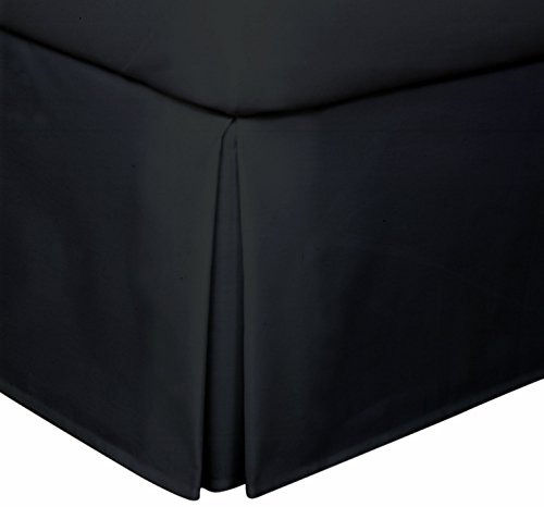 15 Fall Covers Legs and Bed Frame Crescent Bedding Pleated Bed Skirt Easy Care Twin, Aqua Quadruple Pleated Design Fabric Base Allows for Natural Draping