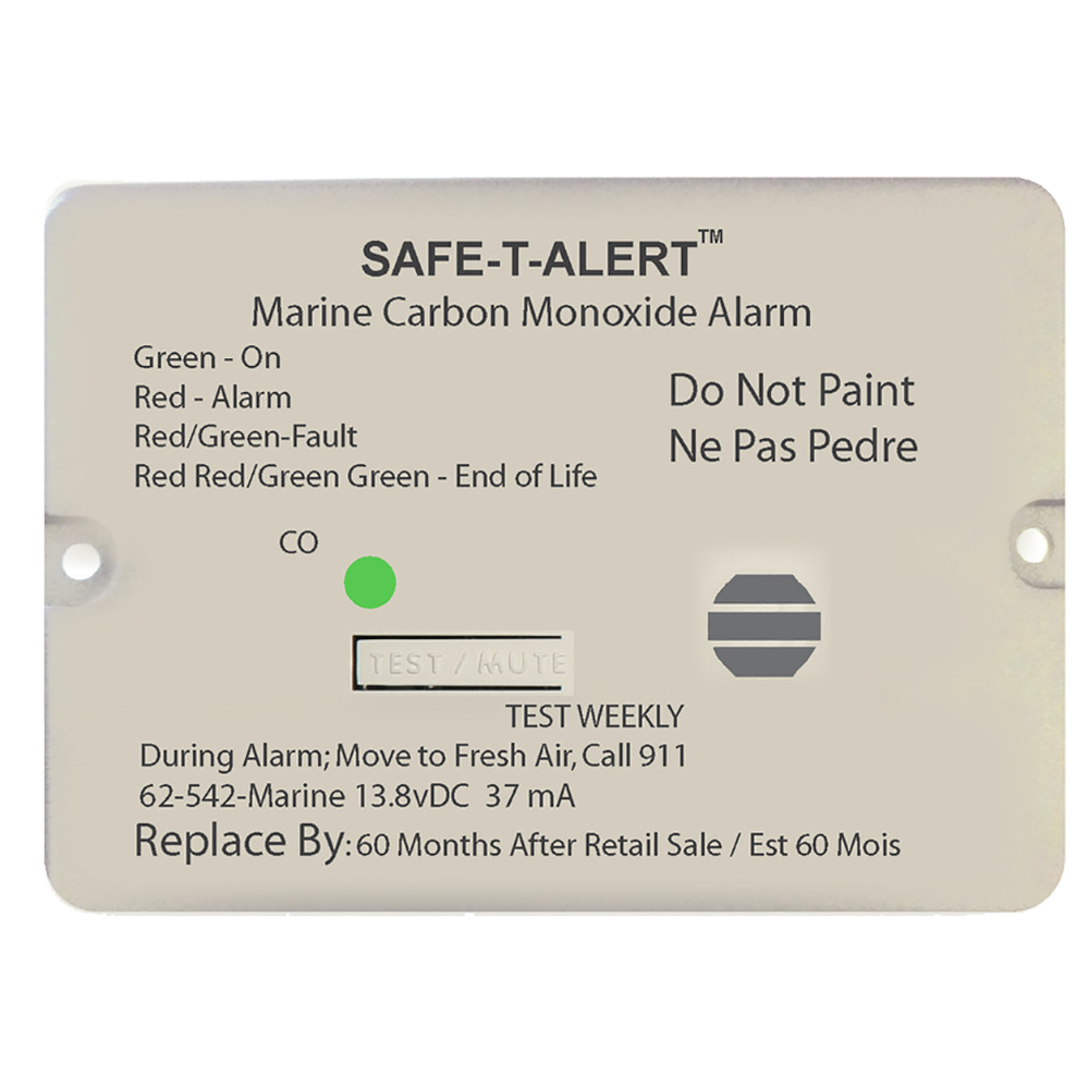 SAFE T ALERT 62 SERIES WHITE  CARBON MONOXIDE ALARMS 12V