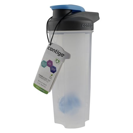 Samba Shaker (Contigo 28 Ounce Shake & Go Fit Shaker Carolina Blue Bottle)