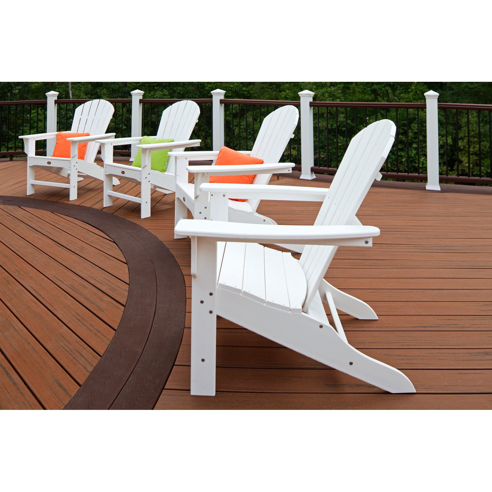 Trex Outdoor Furniture Recycled Plastic Cape Cod Adirondack Chair    Walmart.com