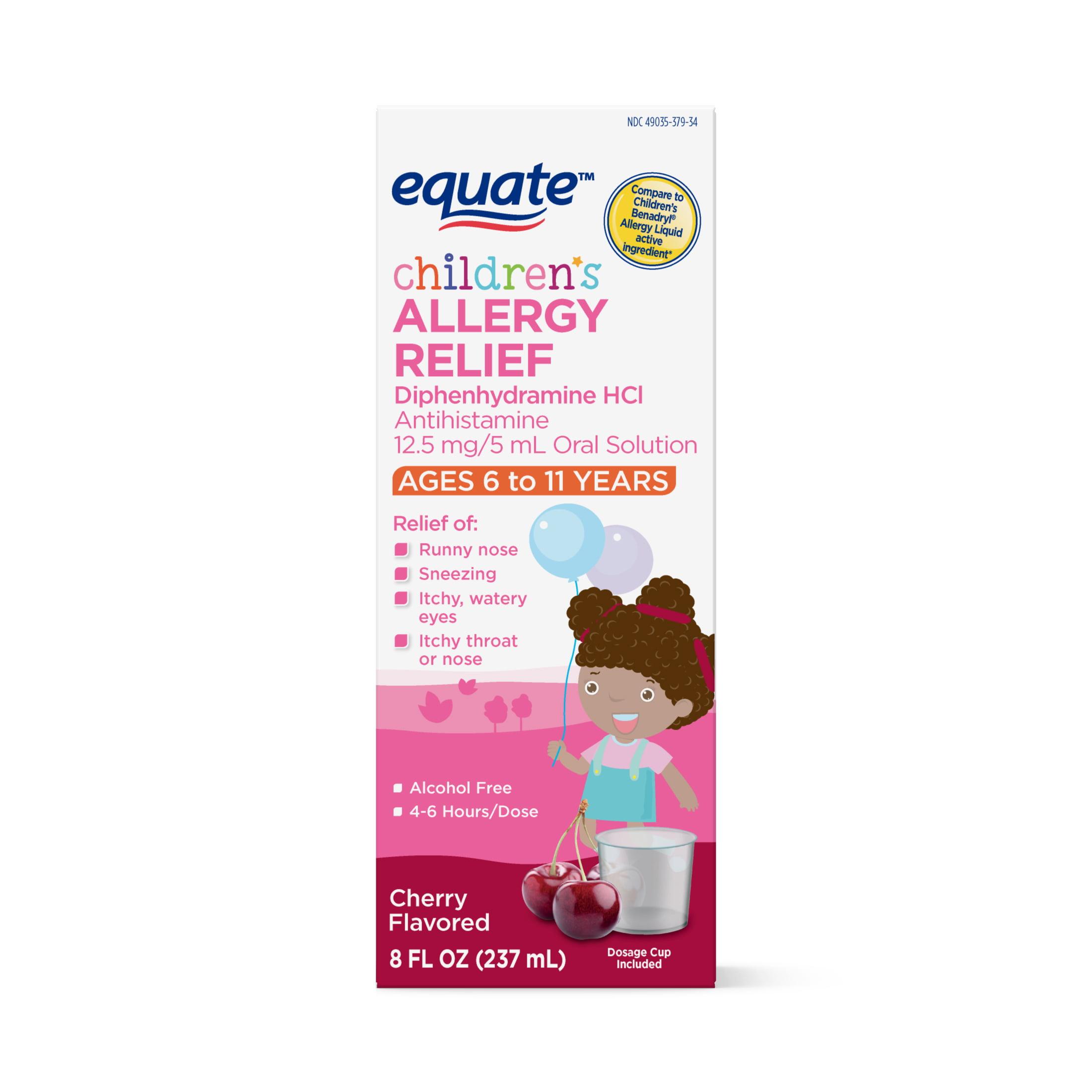 Equate Children's Allergy Relief, Cherry, 8 Fl Oz