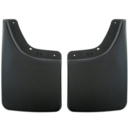 Red Hound Auto 2002-2008 Compatible with Dodge Ram Mud Flaps Guards Splash No Flares Rear Molded 2pc Set ()