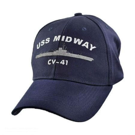 USS Midway Adjustable Baseball Cap - ADJUSTABLE - Navy Blue ... 1418c101fce