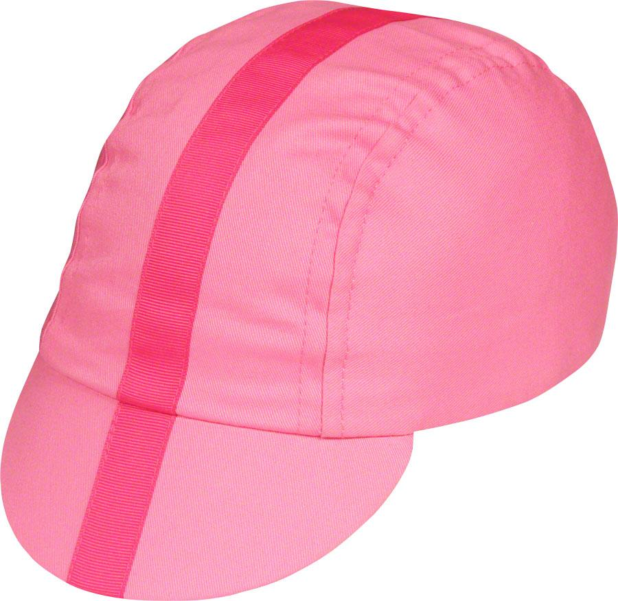 Pace Sportswear Classic Cycling Cap: Pink with Pink Tape SM