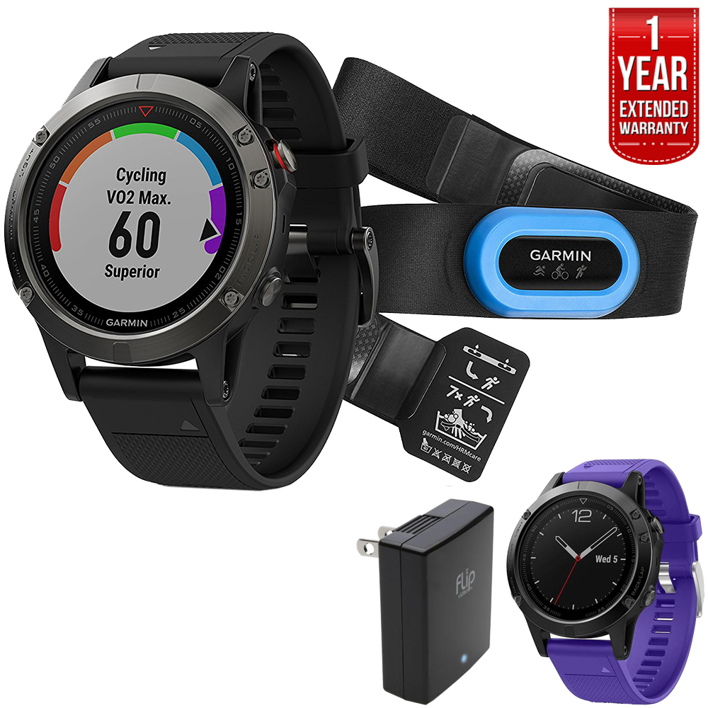 Garmin Fenix 5 Sapphire Multisport 47mm GPS Watch Perform...