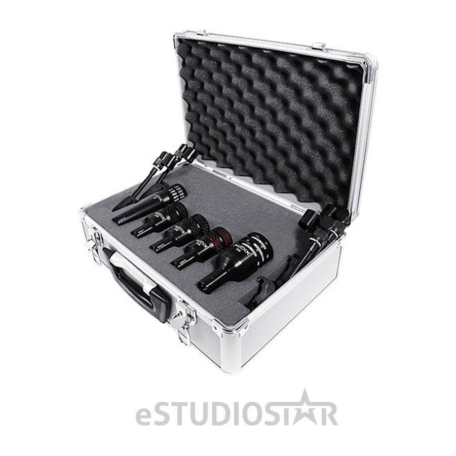 Audix DP5a Drum Microphone Kit i5, D2, D4, D6 DP5 Dvice Aluminum Case Dclips by Audix