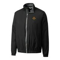 Iowa State Cyclones Cutter & Buck Big & Tall Nine Iron Full-Zip Jacket - Black