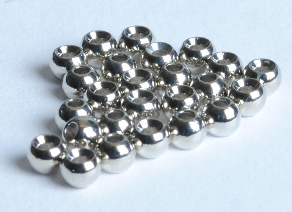 100 Fly Tying Brass  Beads Nickel  of  5//32