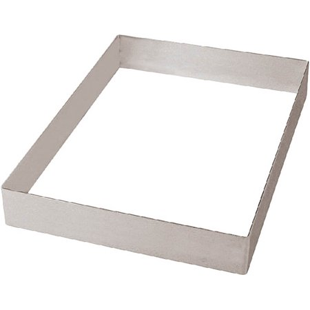 Rectangular Stainless Steel Tube - Paderno World Cuisine Rectangular Cake Frame / Extender, 14.12