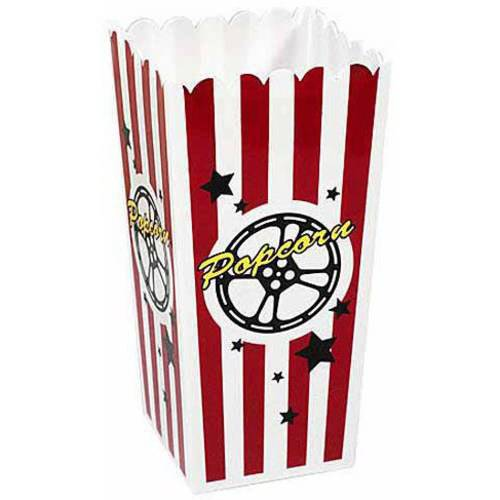 Plastic Popcorn Box, Set of 4](Plastic Popcorn Buckets)