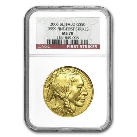 2006 1 oz Gold Buffalo MS-70 NGC (First -