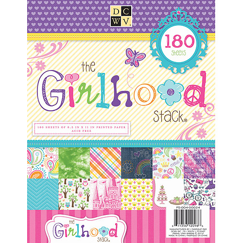 Diecuts With A View Girlhood Paper Stack, 180 Sheets