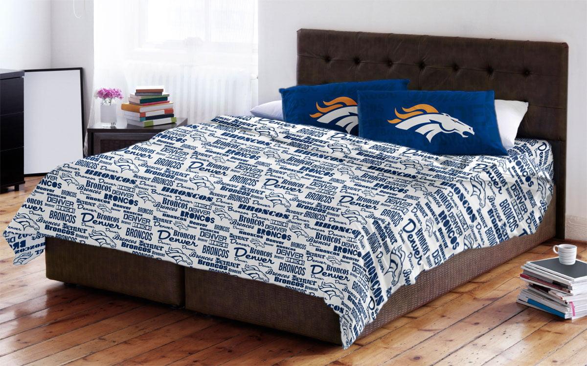 Denver Broncos Full Sheet Set - Walmart.com