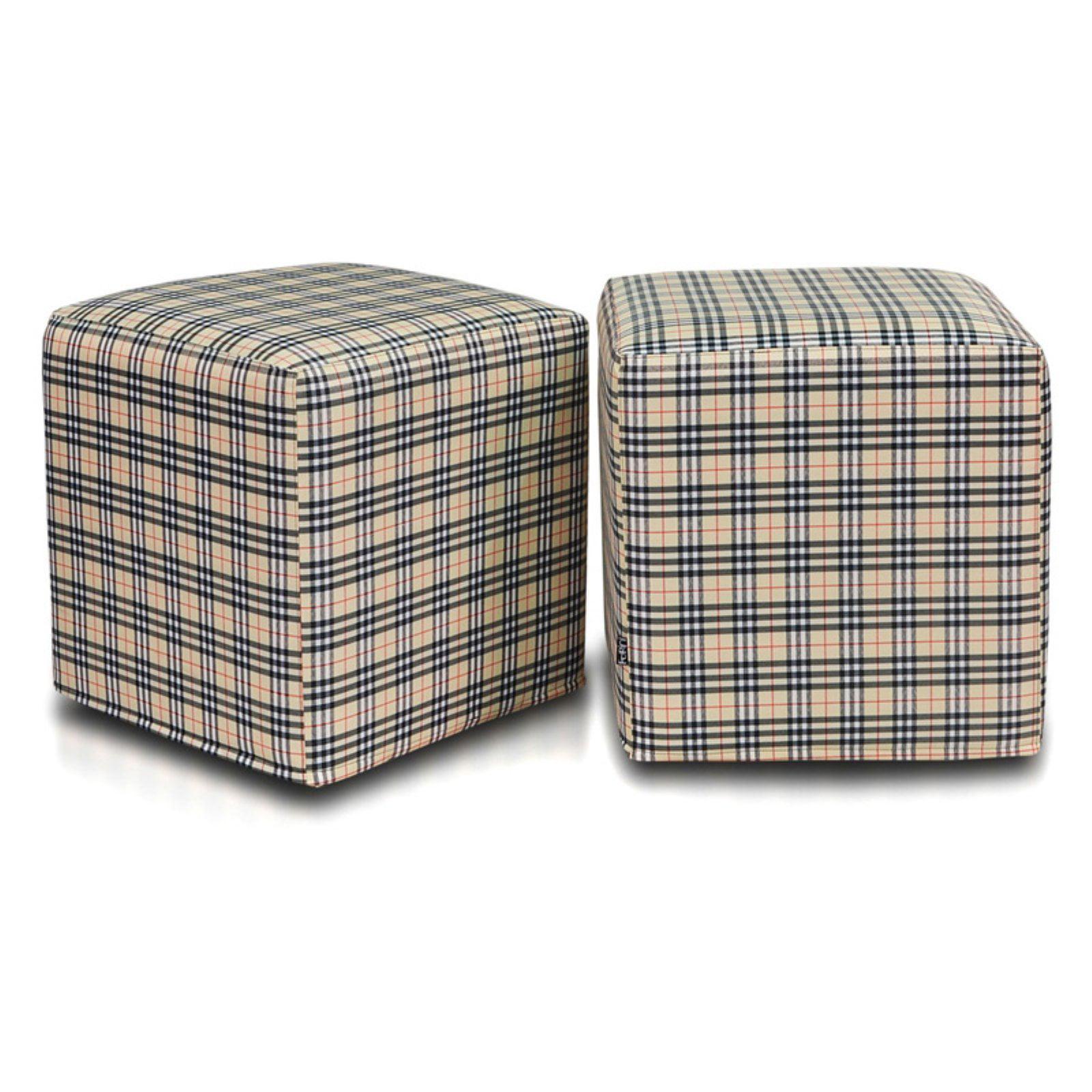 Turbo Beanbags Block Plaid Bean Bag Chair