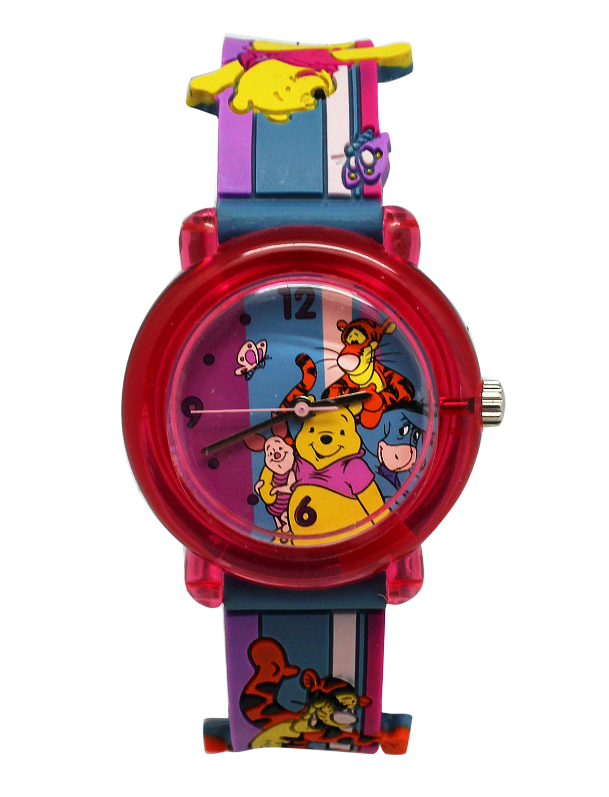 Winnie The Pooh Pink Analog Watch With Metal Box (25mm)