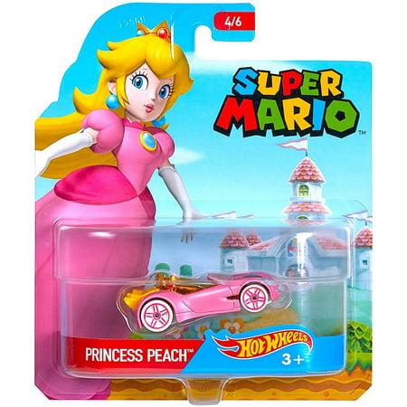 Princess Peach Super Mario Hot Wheels Diecast Car 1:64 Scale - Princess Peach Cat