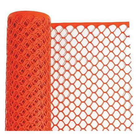 64090204 Safety Fence, 4 ft. H, Orange, 50 ft. L - Orange Fence Roll