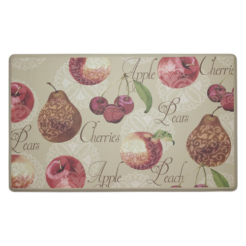 Chef Gear Elegant Fruit Anti-Fatigue Gelness Comfort Chef Mat
