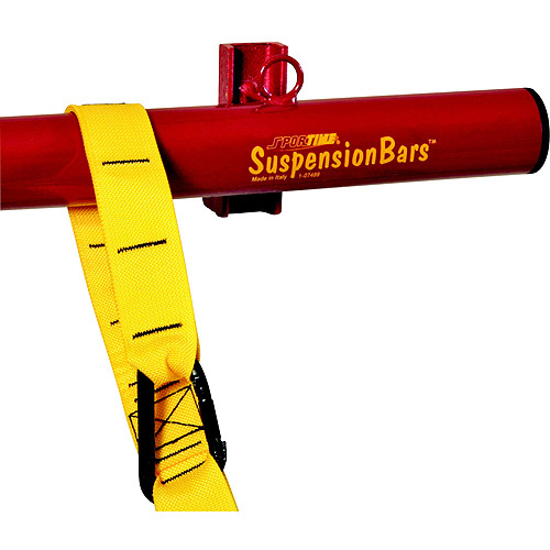 Sportime SuspensionBar, 4 Feet, 660 Pound Weight Capacity, Red