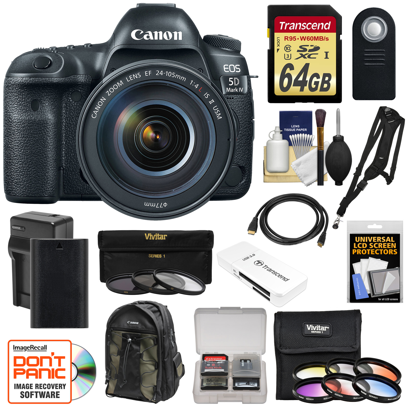 Canon Eos 5d Mark Iv 4k Wi Fi Digital Slr Camera Amp Ef 24